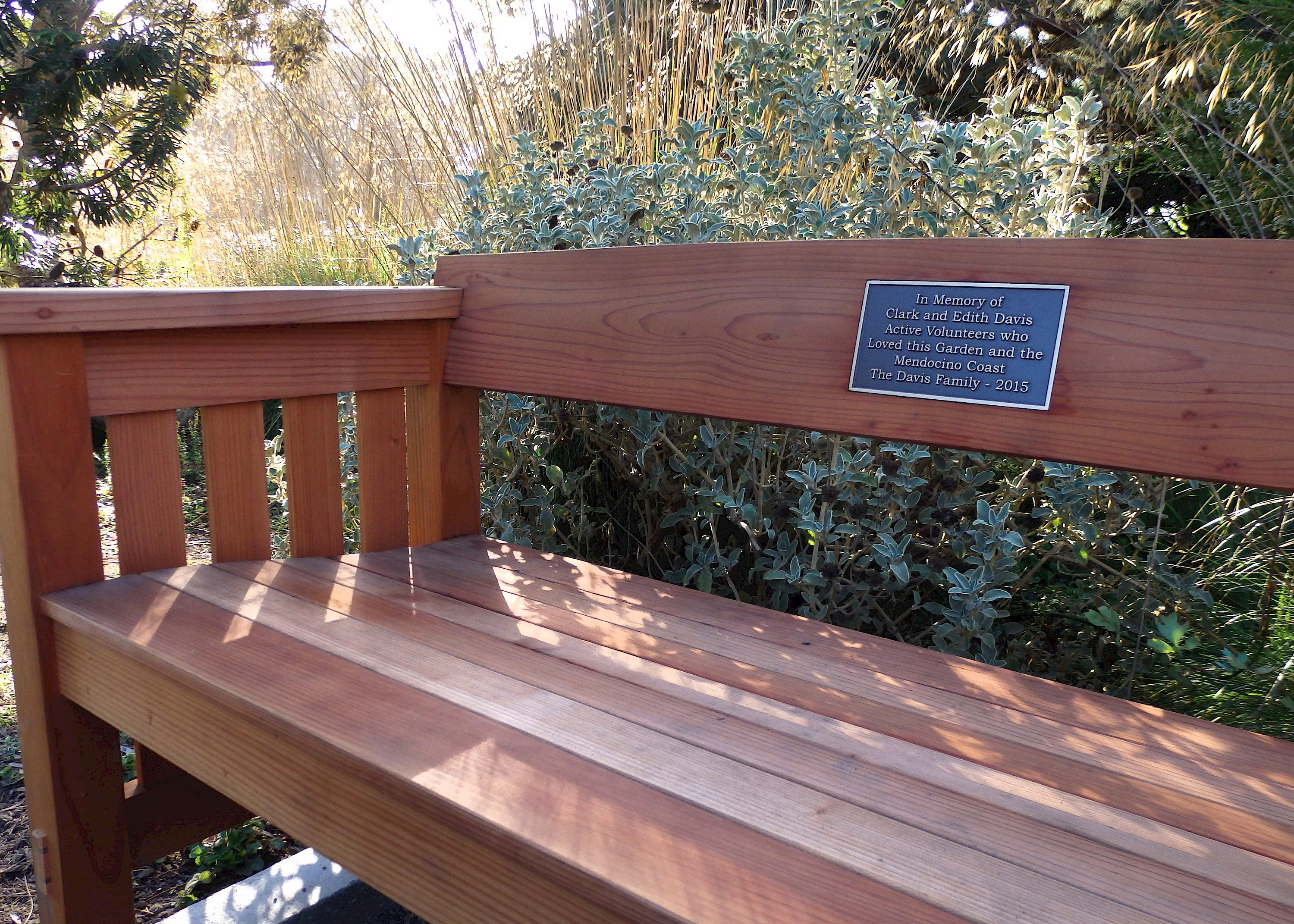 Honoring Loved Ones With A Memorial Bench Support Mcbg Inc 2018 Fort Bragg California