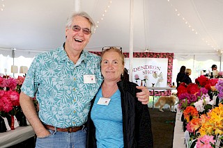 Dick Jones & Rosalie Stanley | Photo by Linda Lawley, Noyo Chapter American Rhododendron Society gallery image