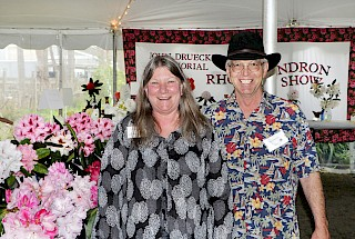 2017 Show Chairpersons Julie & Bruce Donaldson | Photo by Dick Jones, Noyo Chapter American Rhododendron Society gallery image